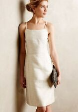 Anthropologie Lustra Structured Dress Ivory Metallic Size 4 Paper Crown $175.00