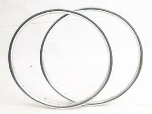 "2qty Spank Oozy 295 Trail 26"" Mountain Bike Wheel Rims Silver 28h Disc New Blem"