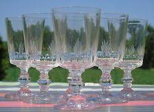 Service de 6 verres à vin cuit en cristal taillé. Début Xxe s. Baccarat?