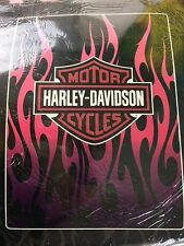 HUGE 60 x 80 Harley Davidson Pink Logo Her PLUSH blanket throw NEW