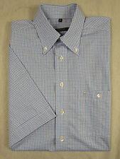 Karierte klassische Eterna Kurzarm Herrenhemden