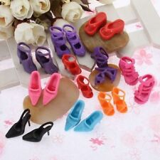 10 Pairs lot Fashion Dolls Heels Sandals Shoes For Barbie Doll ^