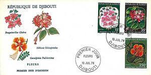 1978 DJIBOUTI FLOWERS SET ON FDC - GREAT PRICE