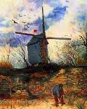 Le Moulin De La Galette by Van Gogh Windmill Man Garden 8x10 Art Print 0714