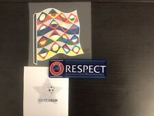 Patchs Badge Football Ligue des Nations + Respect Patch . Nations League Patch