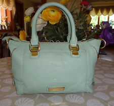 LOVELY STEVE MADDEN SAGE GREEN LEATHER SMALL TOTE/SHOPPER HANDBAG PURSE