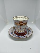 New ListingAntique Russian Red&Gold Tea Cup Signed In Russian Mint