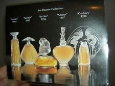 Rare LALIQUE SPECIAL ULTIMATE COLLECTION 1994 ~ 1998 5 Miniature Perfume Box Set