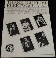 Fleetwood Mac-Group/Album Of The Year-Original 1977 14.5 x 11 Ad/Poster!