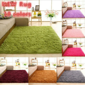 Floor Mat Rugs Shaggy Rug Area Carpet Large Soft Mat Bedroom Living Room Mats