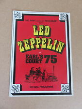 LED ZEPPELIN RARE 1975 ORIGINAL LONDON EARL'S COURT UK CONCERT PROGRAMME