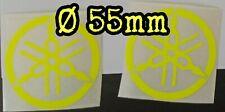 Coppia adesivi logo yamaha Diapason giallo fluo 55mm