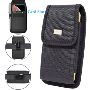 Cell Phone Holster Rugged Carrying Case Wallet Pouch w/ Metal Belt Clip(3 sizes)