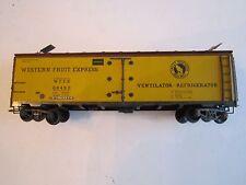 """VTG. WESTERN FRUIT EXPRESS TRAIN CAR - 5 3/4"""" - # 68492 SILVER STREAK BOX BB-1"""