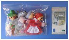 Set 4 marionette per le dita burattini Cappuccetto Rosso lupo nonna Robin Hood