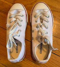 Converse All Star White Boys Girls size 12 EUC Laces