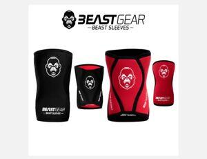 Beast Gear reversible knee sleeves support weight lifting running squats Medium