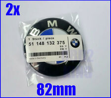 SET FOR BMW 2pcs 82mm blue white emblem (2pcs) hood and trunk