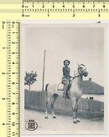 078 Woman Riding Horse Lady Ride Portrait vintage photo original old snapshot