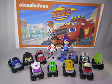 BLAZE AND THE MONSTER MACHINES Set of 13 pcs Figure Playset, Cake Toppers