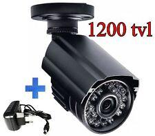 TELECAMERA A INFRAROSSI PER VIDEOSORVEGLIANZA DA ESTERNO 3,6mm NERA 1200tvl