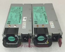 2x Stück LOT HP ProLiant DL380 G7 HSTNS-PL11 PSU Server Netzteil 1200W Power PSU