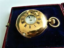 1/4 REPEATER solid 18K 1/2 hunter pocket watch. fantastic chimes. my ref no 380.