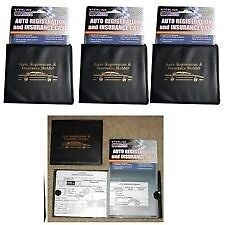 3 Auto car registration and insurance wallet