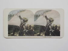 WWI Stereoview A Vision Of Victory Soldier WW I Old World War One Picture WW1
