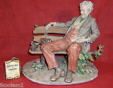 Triade - L'arte Della Porcellana- Benacchio Figurine- Old Man Feeding Birds #725