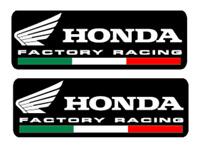 2 adesivi hrc factory racing Moto gp nero cbr rcv 211 cb xadv hornet integra cbx