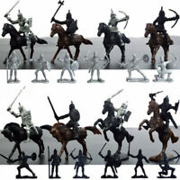28pcs Medieval Knights Horses Soldiers Figures Model Playset Kid Toy Castle Game