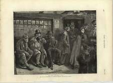 1875 Army And Navy Pensioners At A Country Inn Receiving Their Monthly Payments