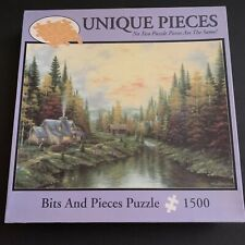 Bits & Pieces Indian Summer 1500pc Puzzle SEALED BAG Rivers Cottage Autumn Fall