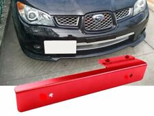 Red Offset Bumper Front License Plate Mounting Bracket Plate for Korean car
