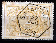 Belgien Eisenbahnpaket 14, O, 2 Fr. Ziffernzeichnung