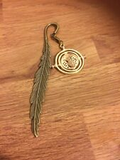 Harry Potter Inspired Hermione Time Turner Book Mark Bronze Tone