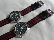 James Bond Nato Style Watch Strap for Seiko SKX SNZF 22mm 2 Piece, Quick release