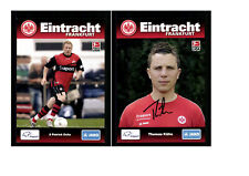 Autogrammkartensatz Eintracht Frankfurt 2009-10 9 Karten Original Sign(3323)
