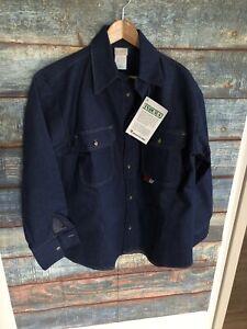 SAF-Tech FR Flame Resistant Indura Lining Blue Jacket Men's Size Large NWT
