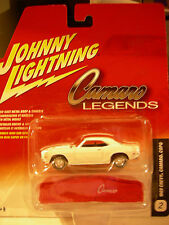 Johnny Lightning 1969 Chevy Camaro Copo with car cover Camaro Legends White