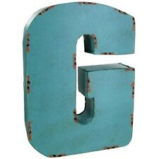 Large Blue  Metal Letter -G.  Adds dimension and interest to your decor