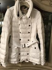 Aut BURBERRY puffer jacket white Limited Classic Gourgeus