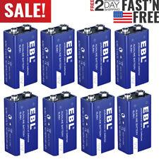 Lot 9V 9 Volt Alkaline Battery 6LR61 Batteries Ultra Long Lasting and Leak Proof