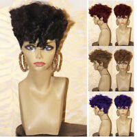 Short Wave Curly Afro Wigs for Black Women Synthetic Full Hair Party Cosplay Wig
