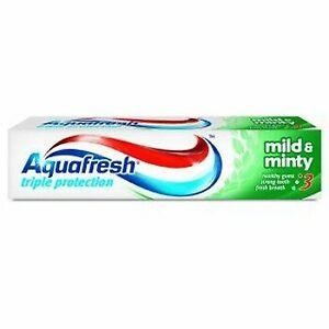 3 x AQUAFRESH TRIPLE PROTECTION Toothpaste MILD & MINTY 100ml