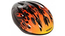 USA Helmet 97029 Hot Rod Flames Black Orange Yellow Kids Bicycle Bike Helmet I1