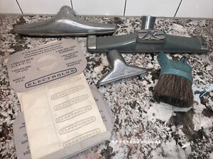 Vtg LOT Electrolux Canister Vacuum AttachmentsBags Hard Floor Brush
