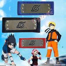 Cafiona Naruto Cosplay Accessories Naruto Ninja Headbands Black Blue Red 3 PCS