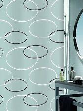 Spirella Anello Grey / Grau Textil Duschvorhang 180 x 200 cm. Markenprodukt